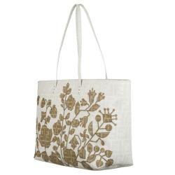 Fendi Roll Bag Coated Canvas Tote
