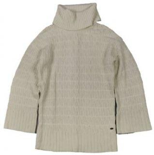 Lacoste Womens Novelty Stitch Wool Blend Turtleneck