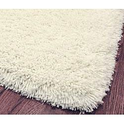 Plush Super Dense Hand woven Honey White Premium Shag Rug (8 Square