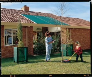 Gale Pacific 302306 Coolaroo 6 x 15 Medium Shadecloth   Forest Green