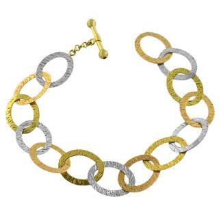 14k Tri color Gold Tuscan Oval Bracelet