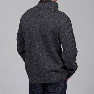 The Fresh Brand Mens 1/4 Zip Wool/Cashmere Blend Sweater