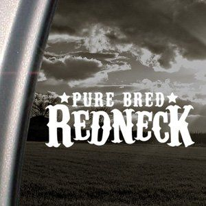 Pure Bred Redneck Decal Car Truck Window Sticker Arts