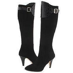 Lumiani Luciana Black Suede/Black Croco Boots