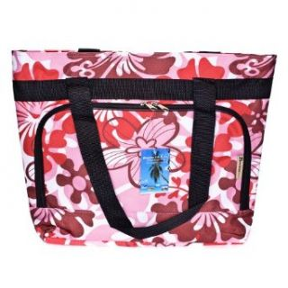 Red and Pink Flower Print Beach / Gym Bag Clothing