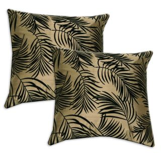 Taupe and Black Accent Pillows (Set of 2)