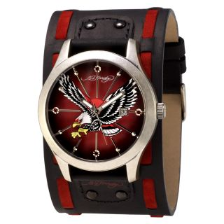 Ed Hardy Mens Gladiator Contrast Eagle Watch