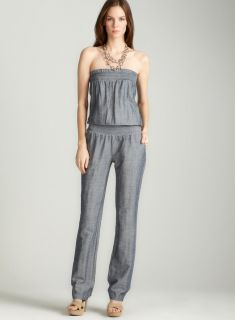 Planet Gold Linen jumpsuit in denim