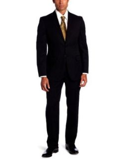 Joseph Abboud Mens 2 Button Side Vent Stripe Suit With