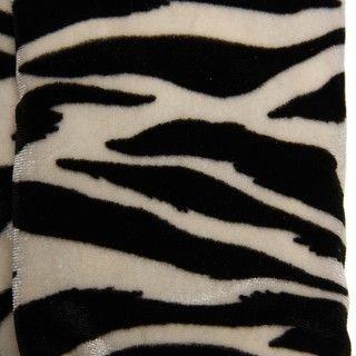 Cejon Womens Zebra Print Velvet Gloves