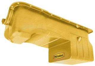 Milodon 31125 Steel, Gold Zinc Plated Street and Strip Oil Pan for