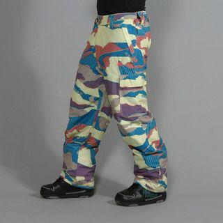 Rip Curl Mens Focker Pattern Wax Yellow Ski Pants