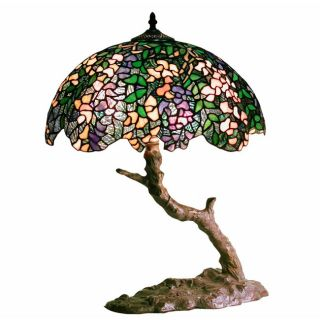 Tiffany Style Green Bonsai Table Lamp