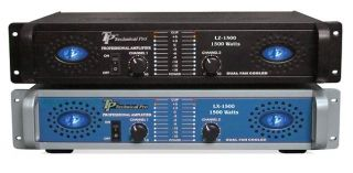 Technical Pro 2U Professional Amplifier, 1500 Watts Peak
