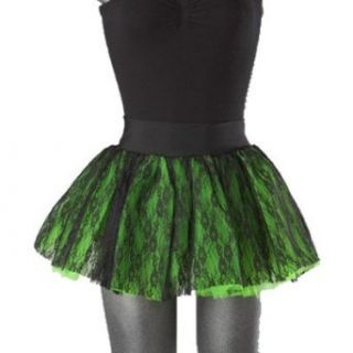Hell Bunny Mini Rock NEW RAVE TUTU black/green: Bekleidung