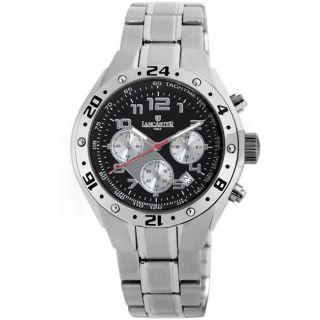 Lancaster Italy Mens Adriatic Black Dial Watch