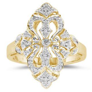10K Yellow Gold Diamond Cocktail Ring
