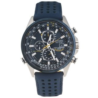Citizen Mens Stainless Steel Blue Angels World Chronograph Watch