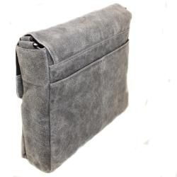 The Jones Collection Distressed Leather Messenger Bag