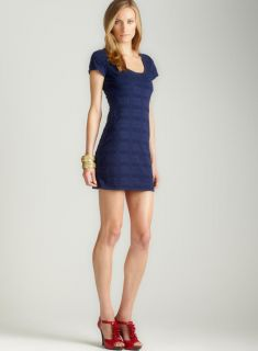 Max Studio Puckered Jersey Dress