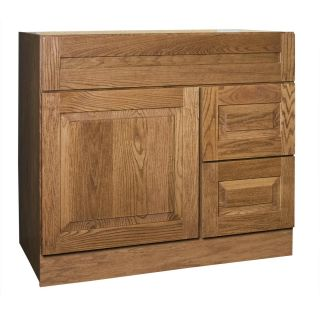 Amalfi Series 36x18 inch Vanity Base with Right side Drawers