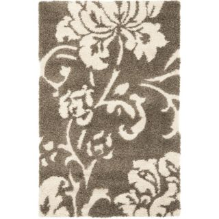 Ultimate Smoke/ Beige Shag Rug (33 x 53)