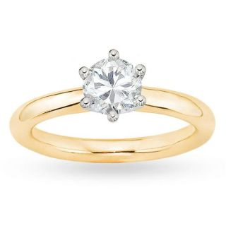 18k Gold 7/8ct TDW GIA Certified Diamond Engagement Ring (E, VS1