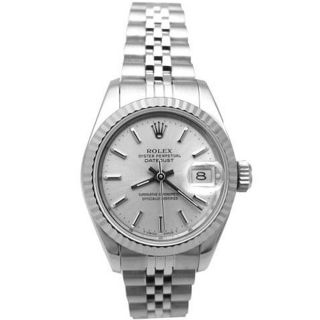 Pre owned Lady Rolex Stainless Steel Datejust Watch