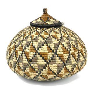 Ukhamba Diamond Pattern Beer Basket (South Africa)