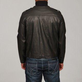 Kenneth Cole Mens Black Bomber Jacket FINAL SALE