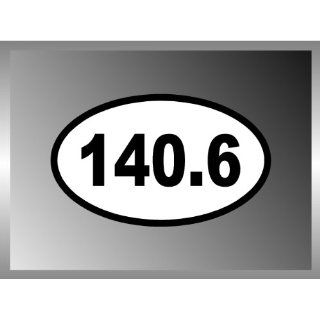IRON MAN TRIATHLON 140.6 VINYL EURO DECAL BUMPER STICKER 3