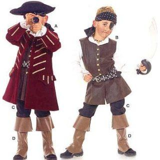 Boys Costume Pattern Pirate, Frenchman 1700s Size 4 to 10 (104 to 140