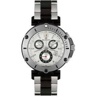 Burett Mens Continent Chronograph Two tone Watch