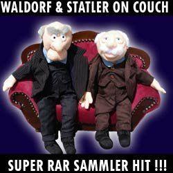 STATLER und WALDORF auf LUXUSCOUCH Muppet Show XL Deko Hammer Figuren