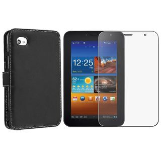 Leather Case/ Anti glare LCD Protector for Samsung Galaxy Tab P1000