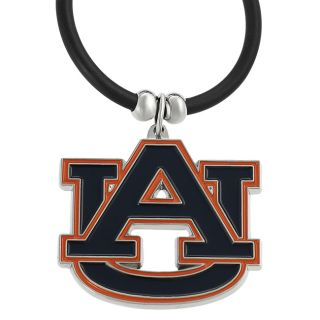 Silvertone Auburn University Necklace