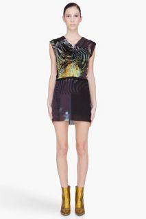 Edun Silk Zebra Print Sleeveless Dress for women