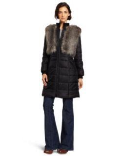 BCBGMAXAZRIA Womens Noel Woven Long Coat Clothing