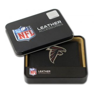 Atlanta Falcons Mens Black Leather Tri fold Wallet Today: $25.99