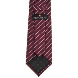 Republic Mens Striped Woven Microfiber Tie