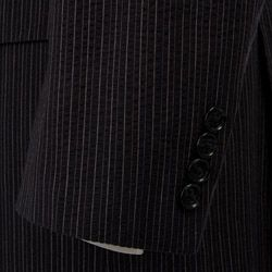 Calvin Klein Mens Navy Stripe Seersucker 3 button Suit
