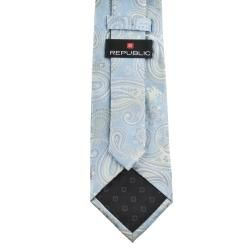 Republic Mens Paisley Woven Microfiber Tie