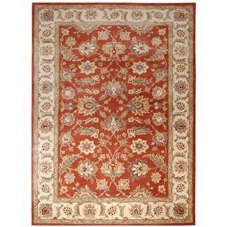 Hand tufted Mahene Red Wool Rug (2 X 3)