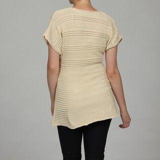 Calvin Klein Womens Dolman Sleeve Scoop Neck Top