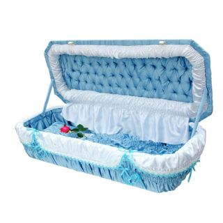 Large Pet Casket Blue Color