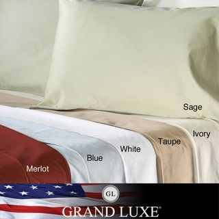 Grand Luxe Egyptian Cotton 500 Thread Count Solid California King size