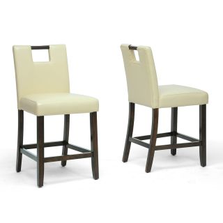 Marilyn Cream Counter Height Stools (Set of 2)