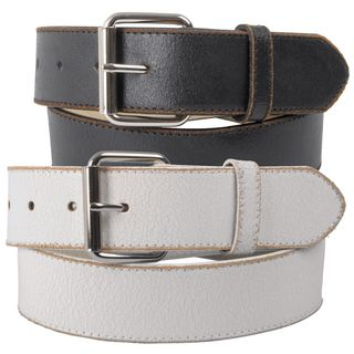 Journee Collection Womens Vintage Distressed Genuine Leather Belt