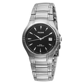 Pulsar Mens Stainless Steel Dress Sport Watch