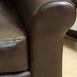 Christopher Knight Home Yonkers Chocolate Brown Bonded Leather Club